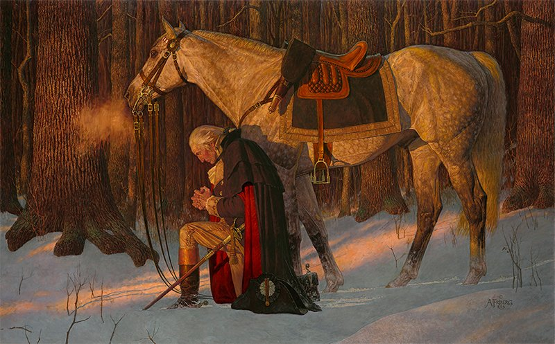 IMAGE of Arnold Friberg's The Prayer At Valley Forge